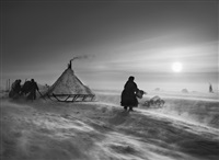 nenets people. yamal peninsula. siberia. russia. [fierce winds] by sebastião salgado